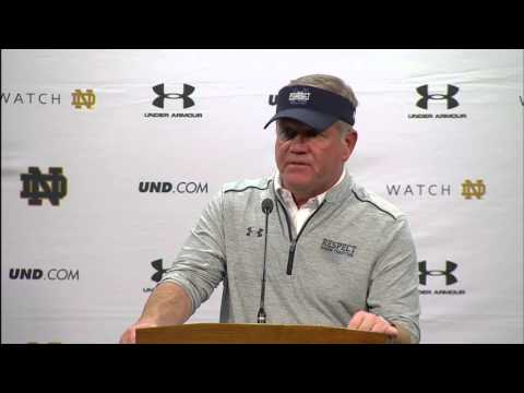 Coach Kelly Navy Post Game Press Conference