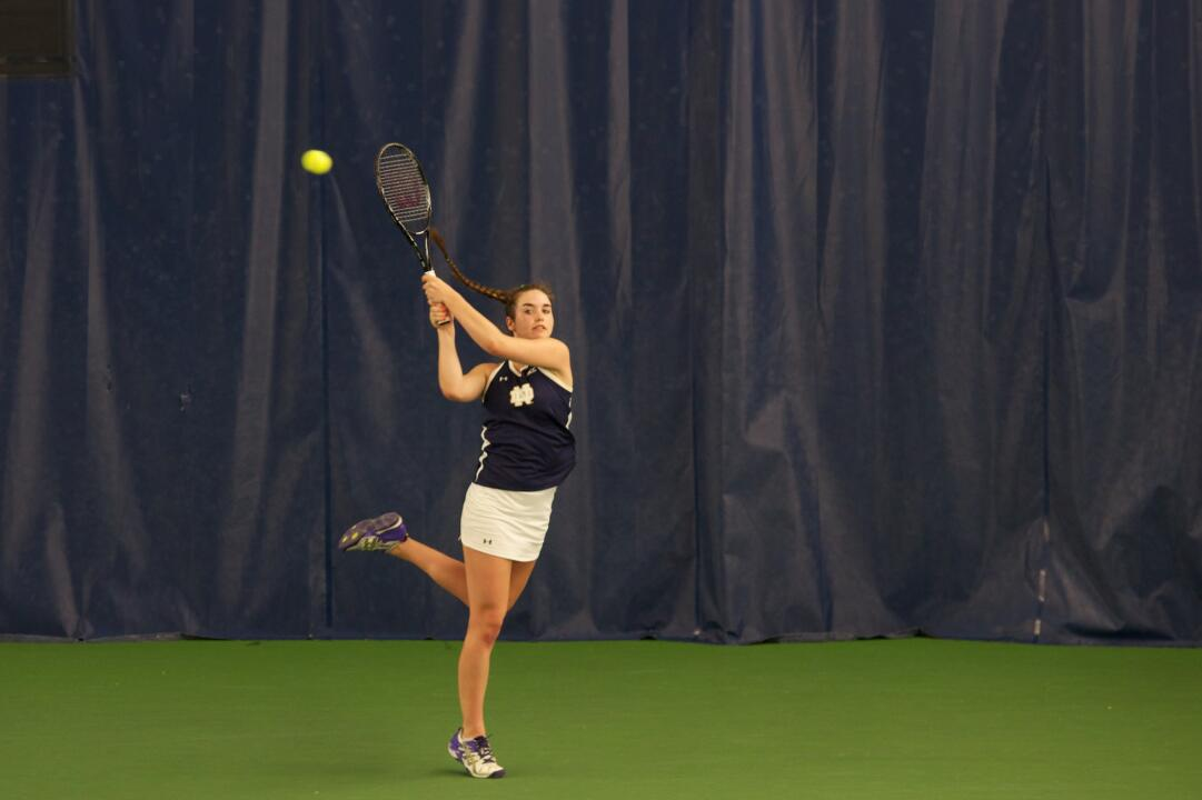 Junior Jane Fennelly claimed a win in both singles and doubles Friday at the Illinois Midwest Blast.