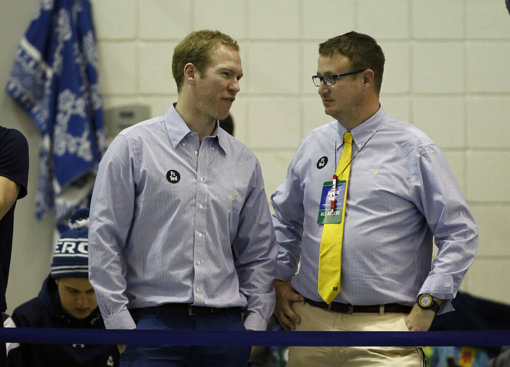 (L) Assistant Coach Tim Lane and (R) Head Coach Matt Tallman.