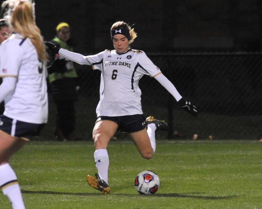 Anna Maria Gilbertson notched a pair of goals and added an assist in Notre Dame's 5-0 win over Oakland on Friday