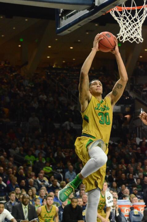 Zach Auguste helped lead the Fighting Irish to their first NCAA Championship Elite Eight appearance since 1979 in 2015.  In Notre Dame's four NCAA games, he averaged 16.8 ppg. and 8.3 rpg.