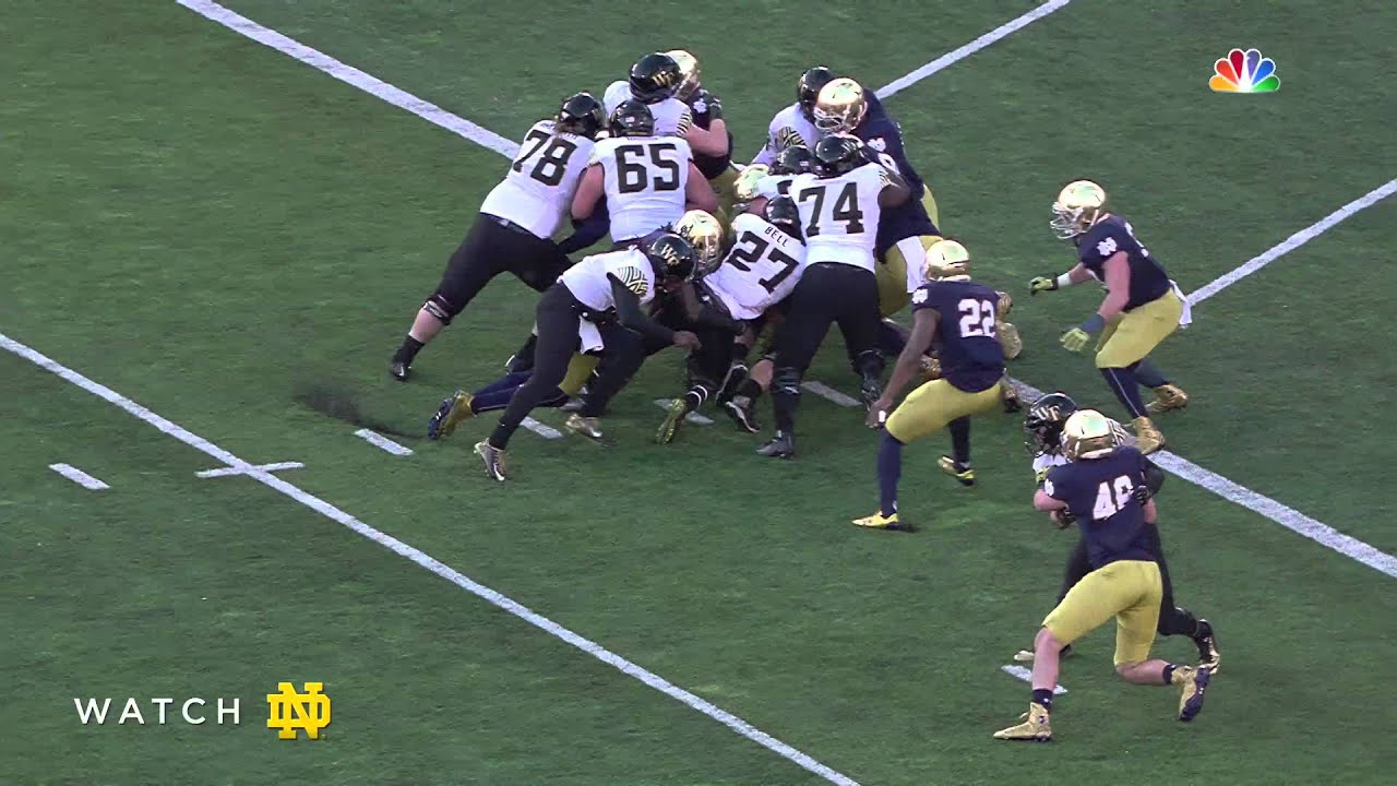 Notre Dame Football vs Wake Forest Halftime Highlights