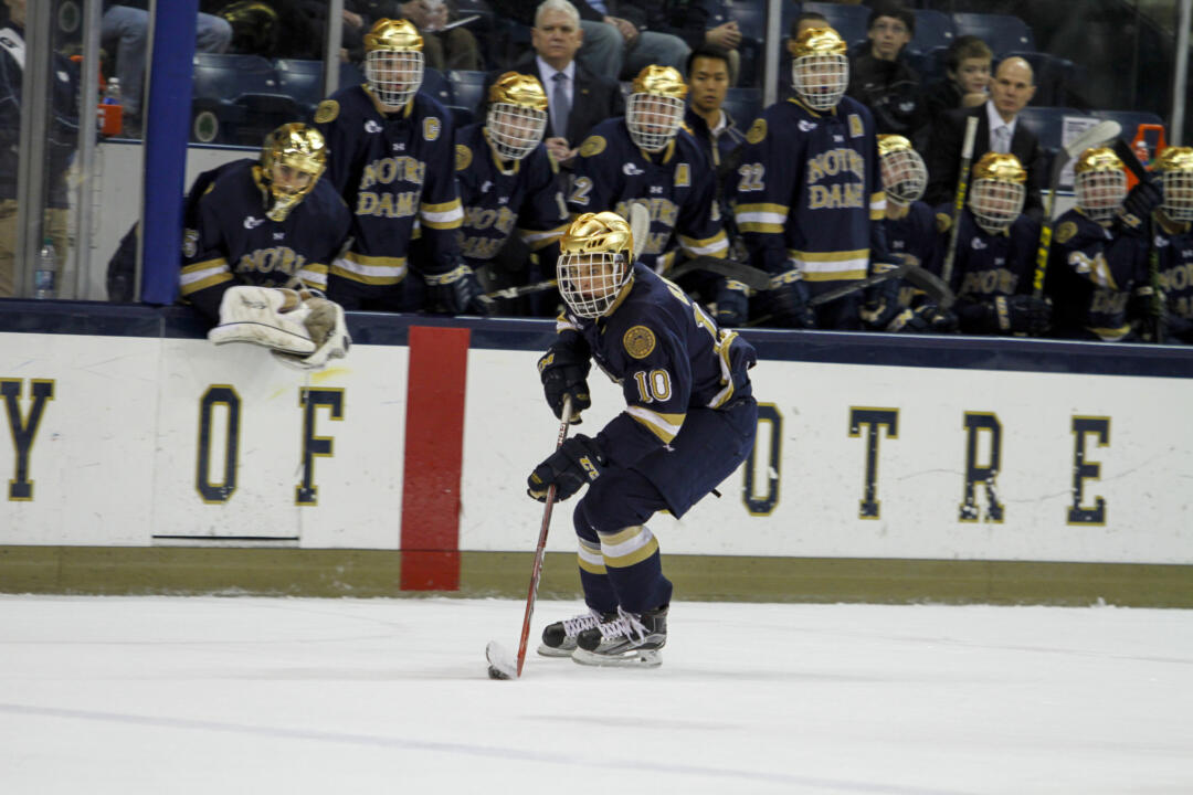 Anders Bjork will be looking to become the 19th Notre Dame player to take part in the World Junior Championships.