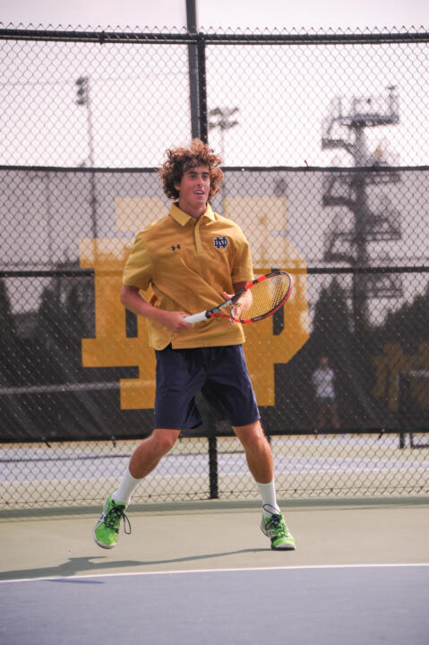 A blue chip recruit according to TennisRecruiting.net, freshman Alex Lebedev's talents also include fluency in English, Russian and Spanish.