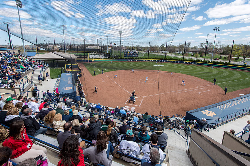 The Notre Dame softball team is slated to host a total of 21 home games during the 2016 regular season at Melissa Cook Stadium