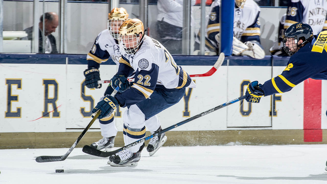 Mario Lucia has scored six goals in Notre Dame's last six games (6-2-8).