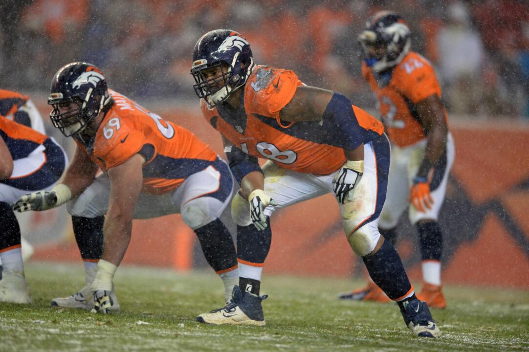Ryan Harris started each of the last 14 games at left tackle for the Denver Broncos.