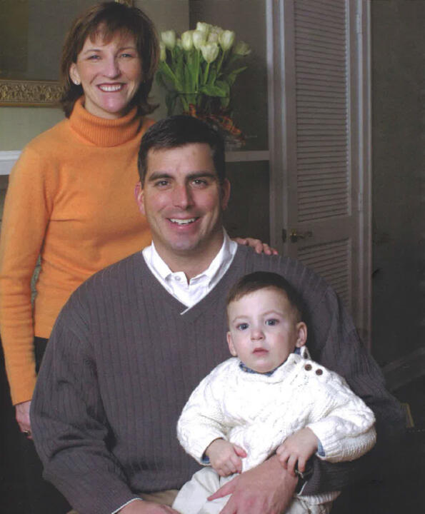 Molly and Kevin Anderson with their son KJ during his younger years.