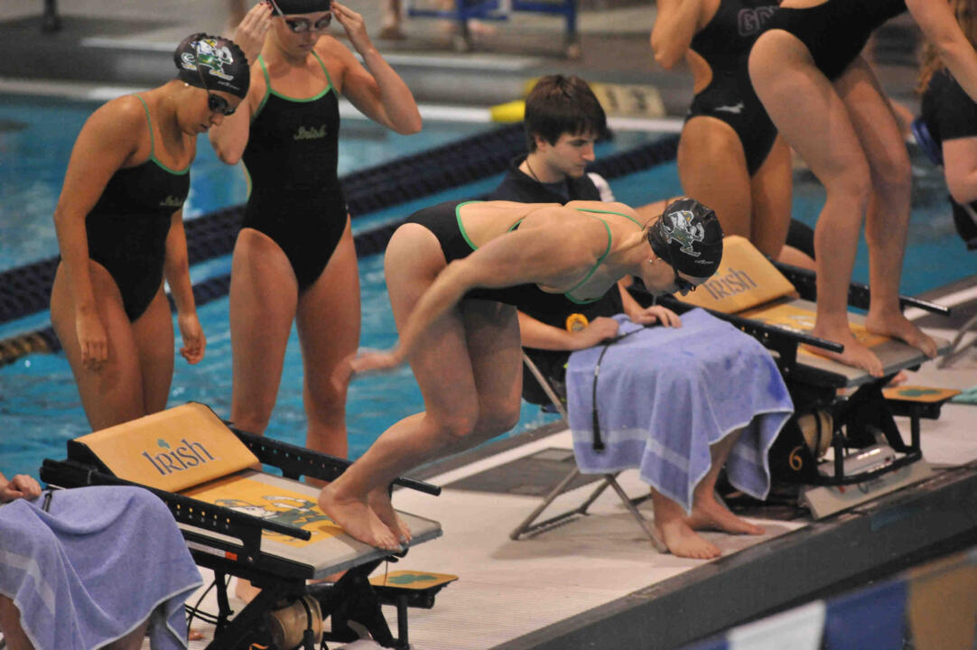 Captain Catherine Galletti and her relay teammates set a new record in the 400 free relay Saturday.