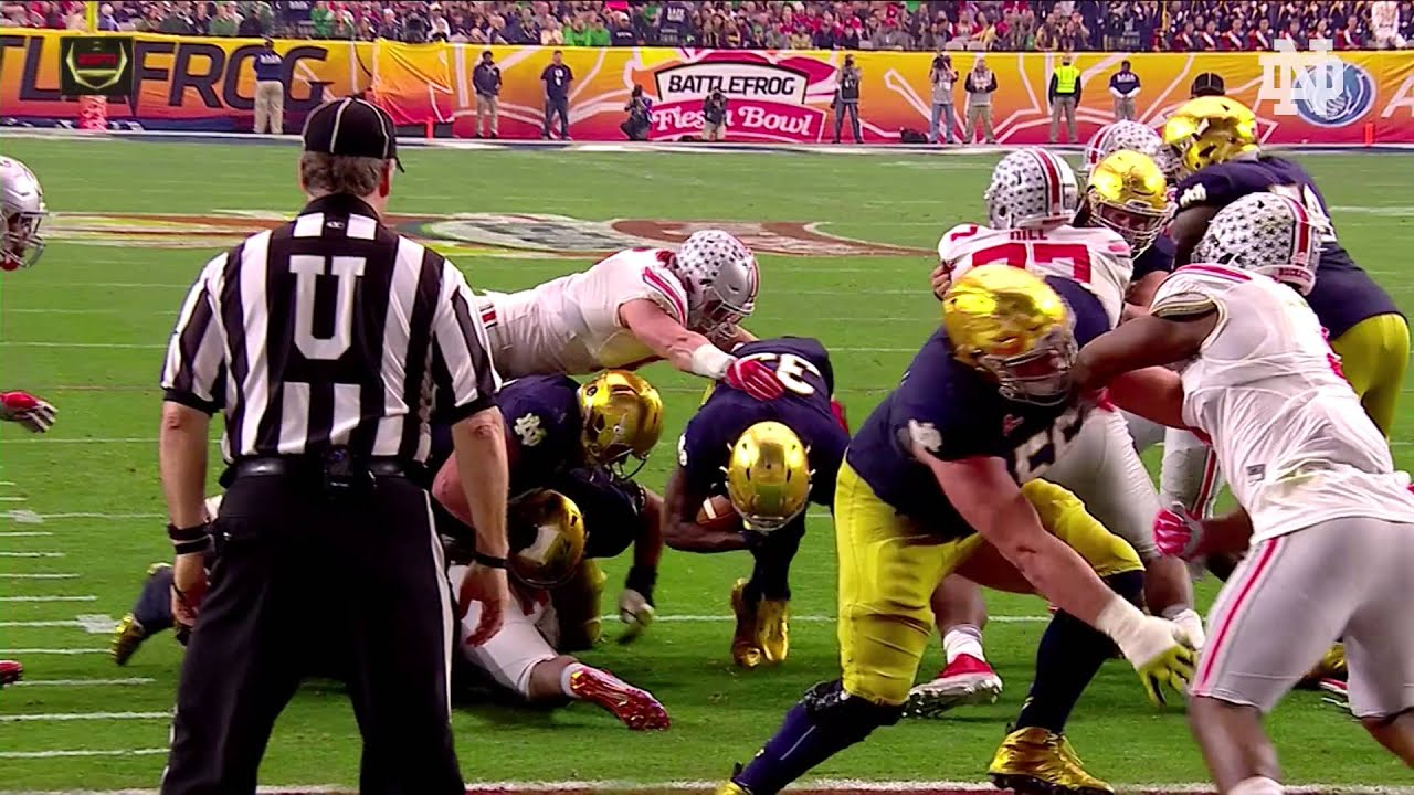 2016 Fiesta Bowl Highlights Notre Dame Ohio State