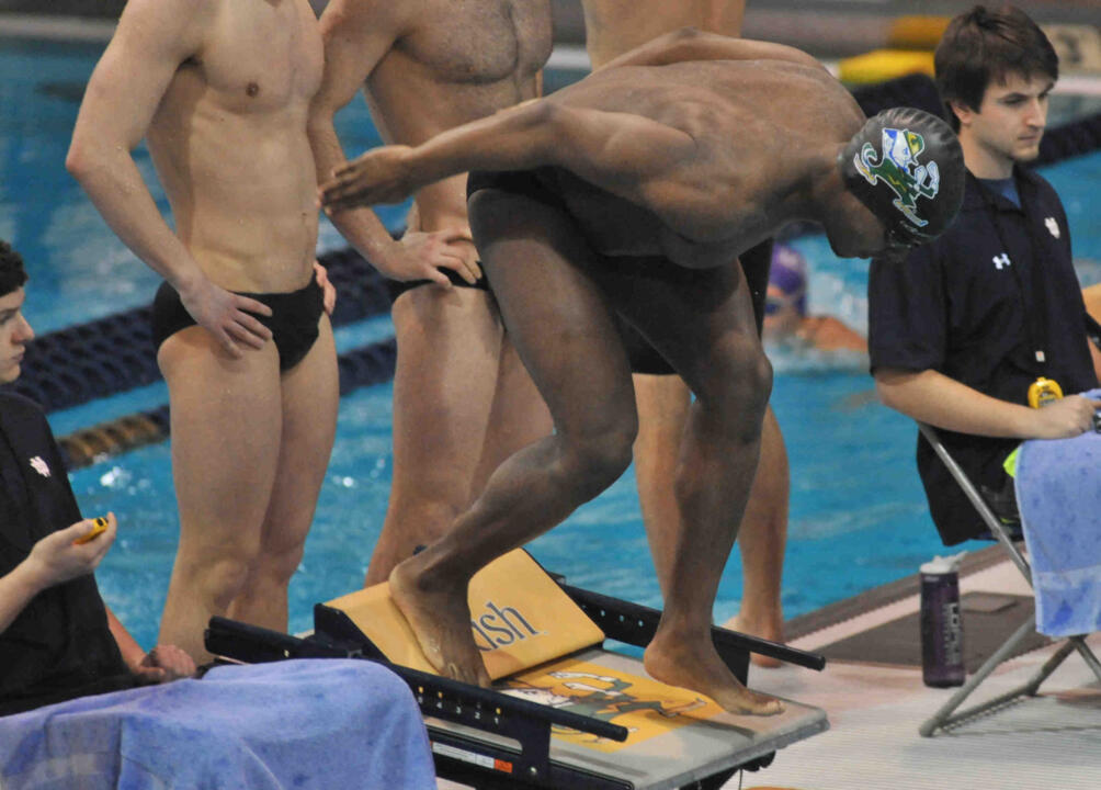David Stewart joins eight other swimmers from the men's team in Michigan this weekend.