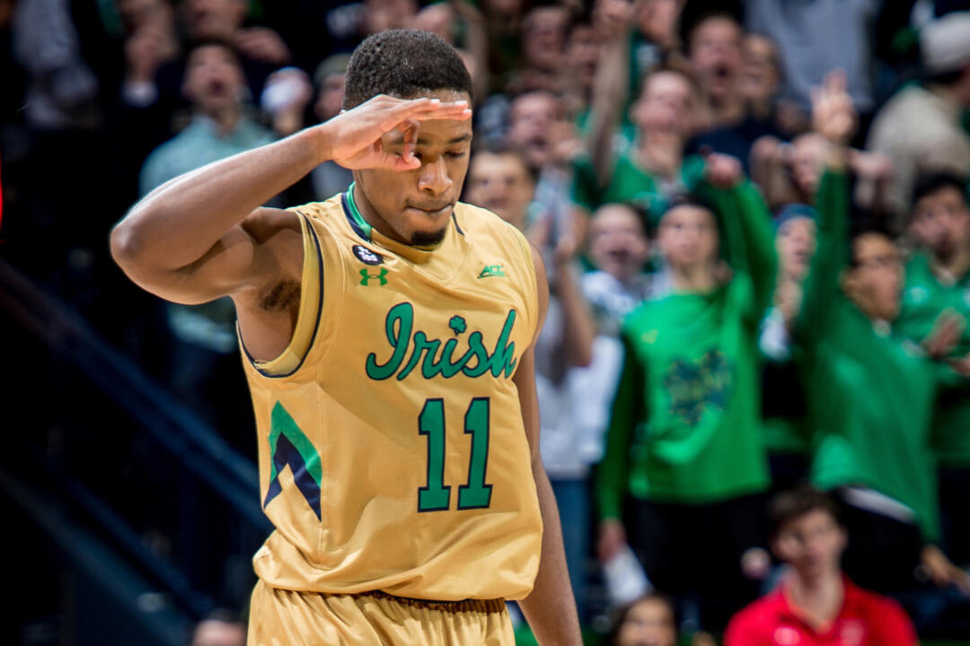 Junior guard Demetrius Jackson was named the ACC Player of the Week on Monday, Feb. 15, after averaging 22.0 ppg and shooting 44% from three point range during Notre Dame's two ACC victories.