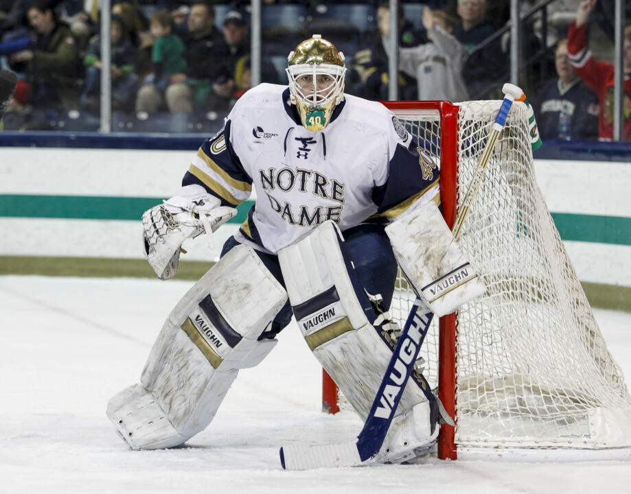 Cal Petersen's consistency in front of the net has been a driving force behind Notre Dame's success.