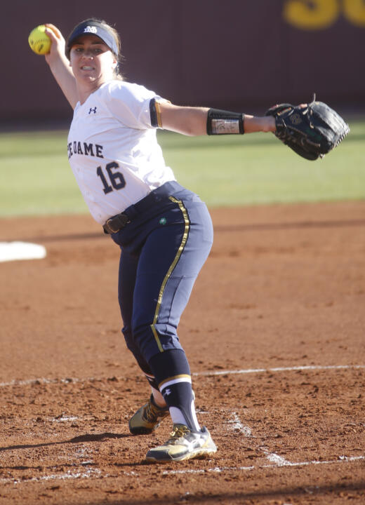 Freshman pitcher Caitlyn Brooks is off to a fast start with Notre Dame softball during her first season on campus