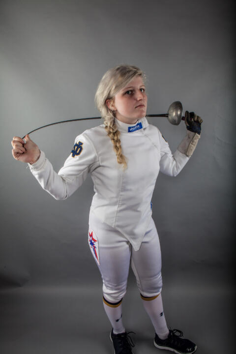 Freshman Madeline Antekeier has been a major contributor on the women's epee squad in her rookie season.