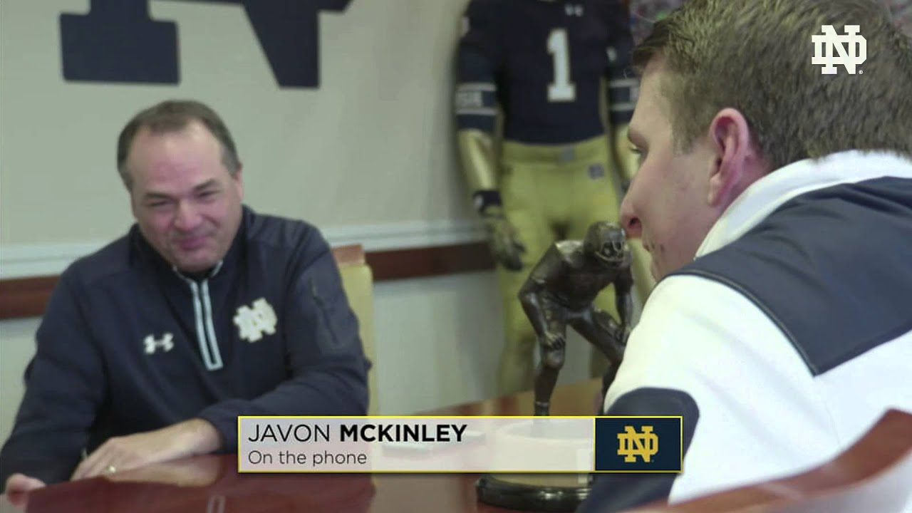 The Phone Call - Javon McKinley - 2016 Notre Dame Signing Day