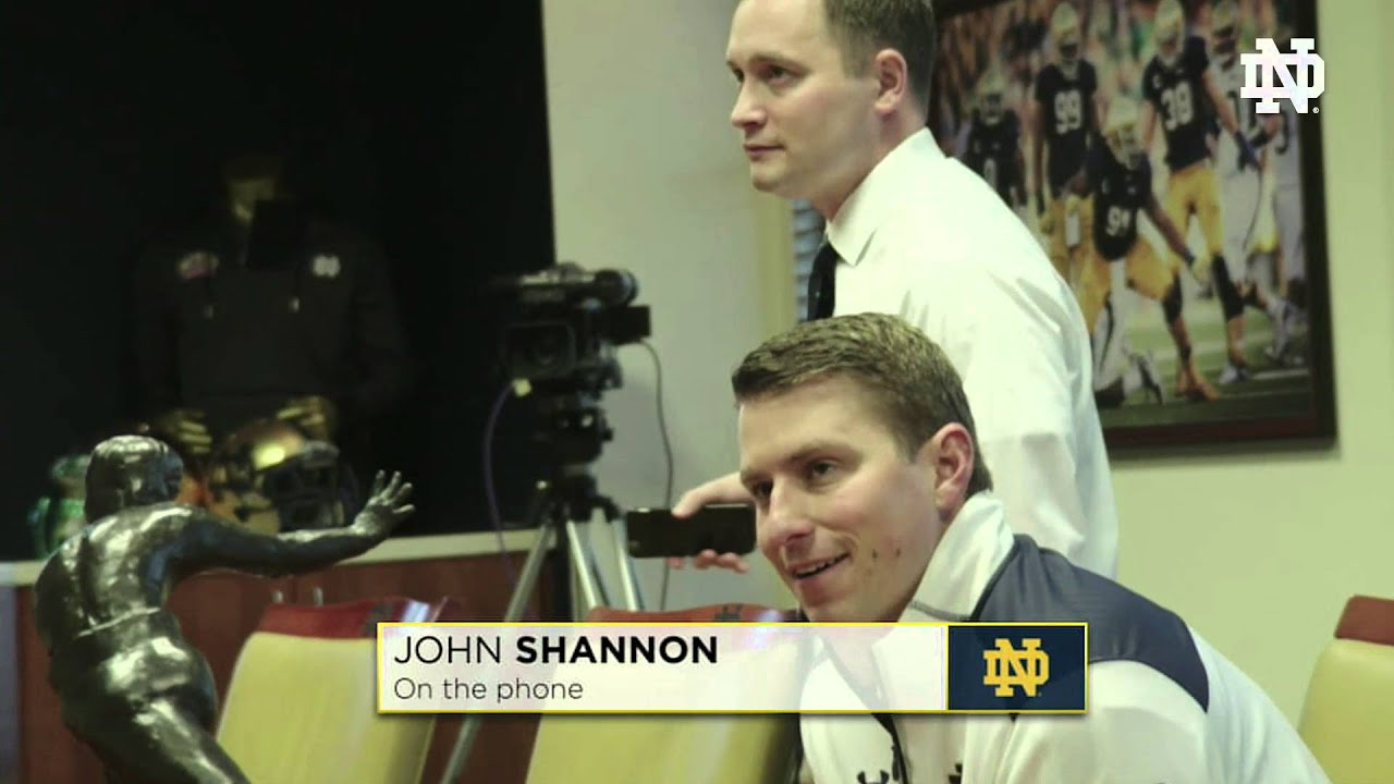 The Phone Call - John Shannon - 2016 Notre Dame Signing Day