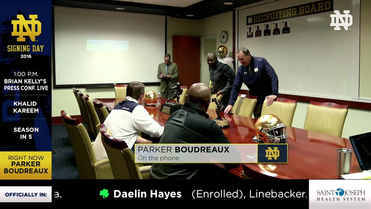 The Phone Call - Parker Boudreaux - 2016 Notre Dame Signing Day