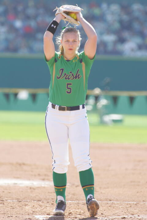 Senior pitcher Allie Rhodes was named the ACC Co-Pitcher of the Week on Monday after two wins last weekend at FGCU