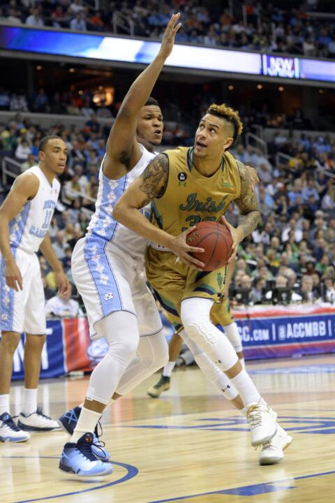 Senior captain Zach Auguste will play in his third NCAA Championship tournament on Friday, March 18, when the Irish take on the winner of Michigan - Tulsa.