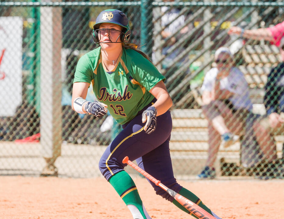 Megan Sorlie drove in the game-winning run for Notre Dame in an 8-0 shutout of DePaul on Wednesday