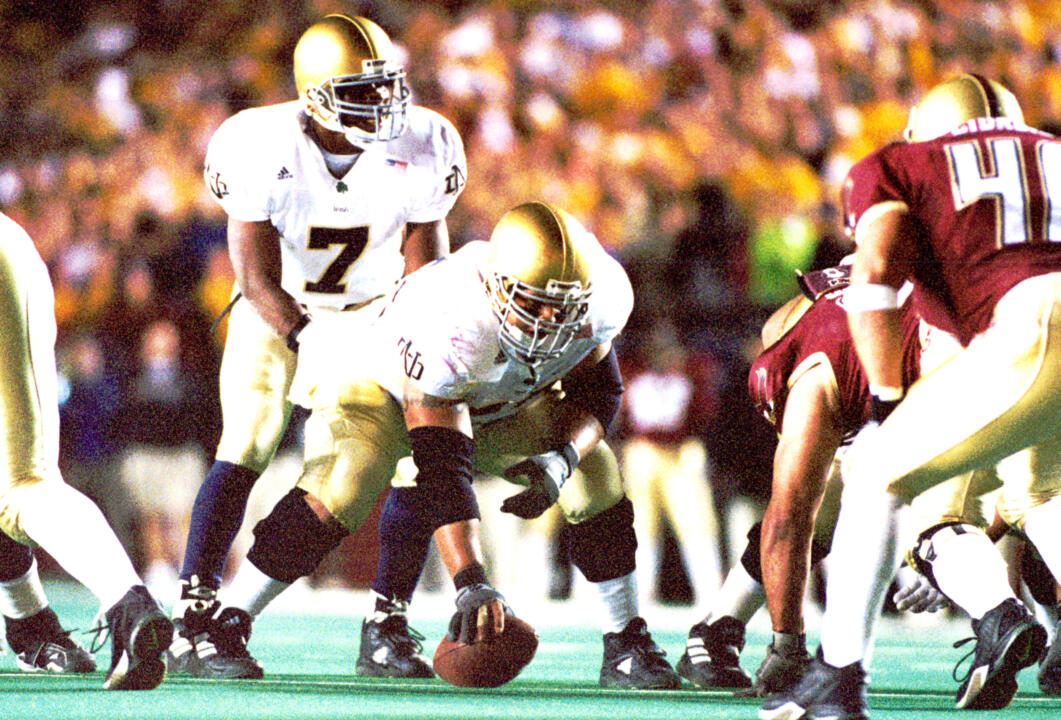 Jeff Faine started in all 35 games he played in during his Notre Dame career.