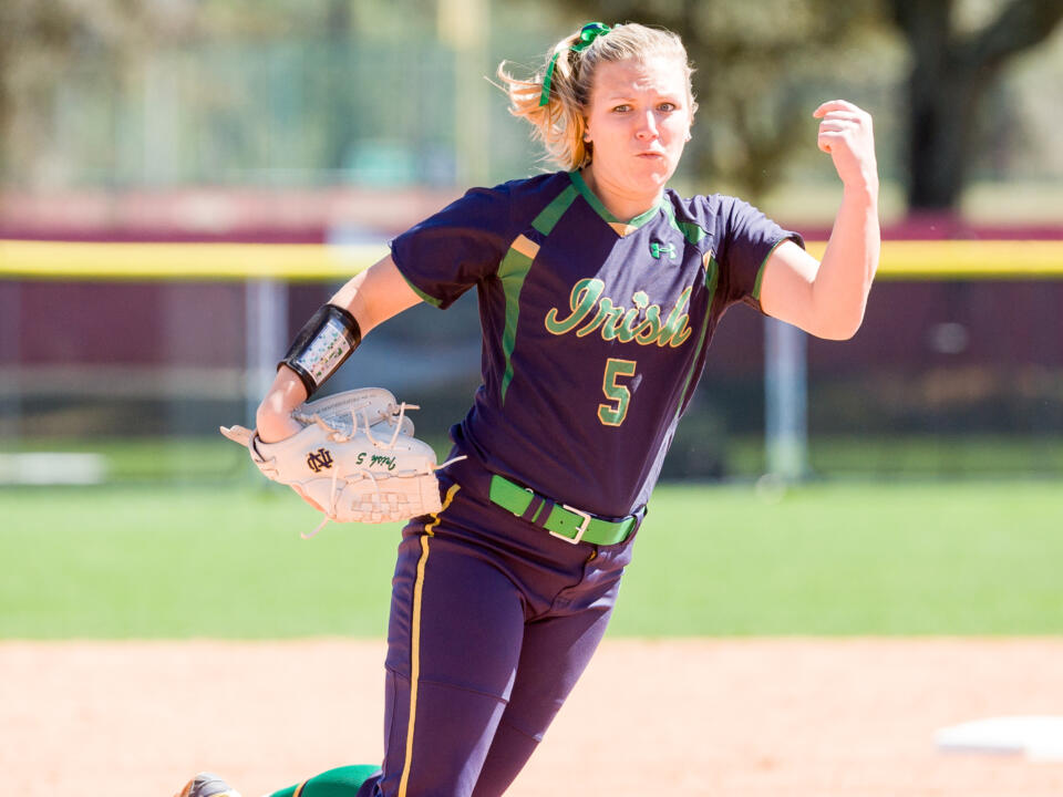 Allie Rhodes claimed a Senior Day 4-0 win with 12 strikeouts against NC State on Sunday