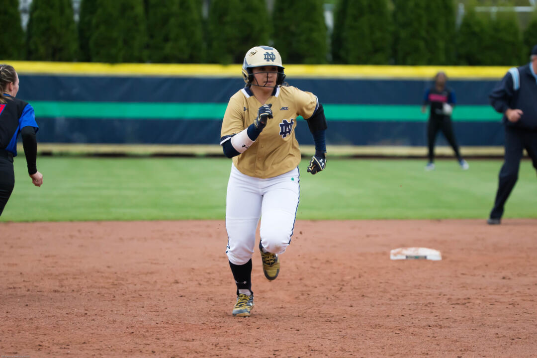 Micaela Arizmendi finished with four hits and drove in four runs in NCAA Ann Arbor Regional wins over Valparaiso and Miami on Saturday