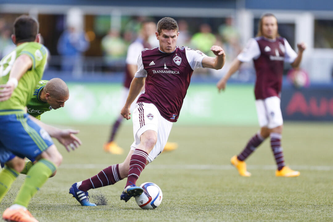 Dillon Powers ('13) and the Colorado Rapids currently sit atop the 2016 MLS regular season standings with 32 points as of June 24
