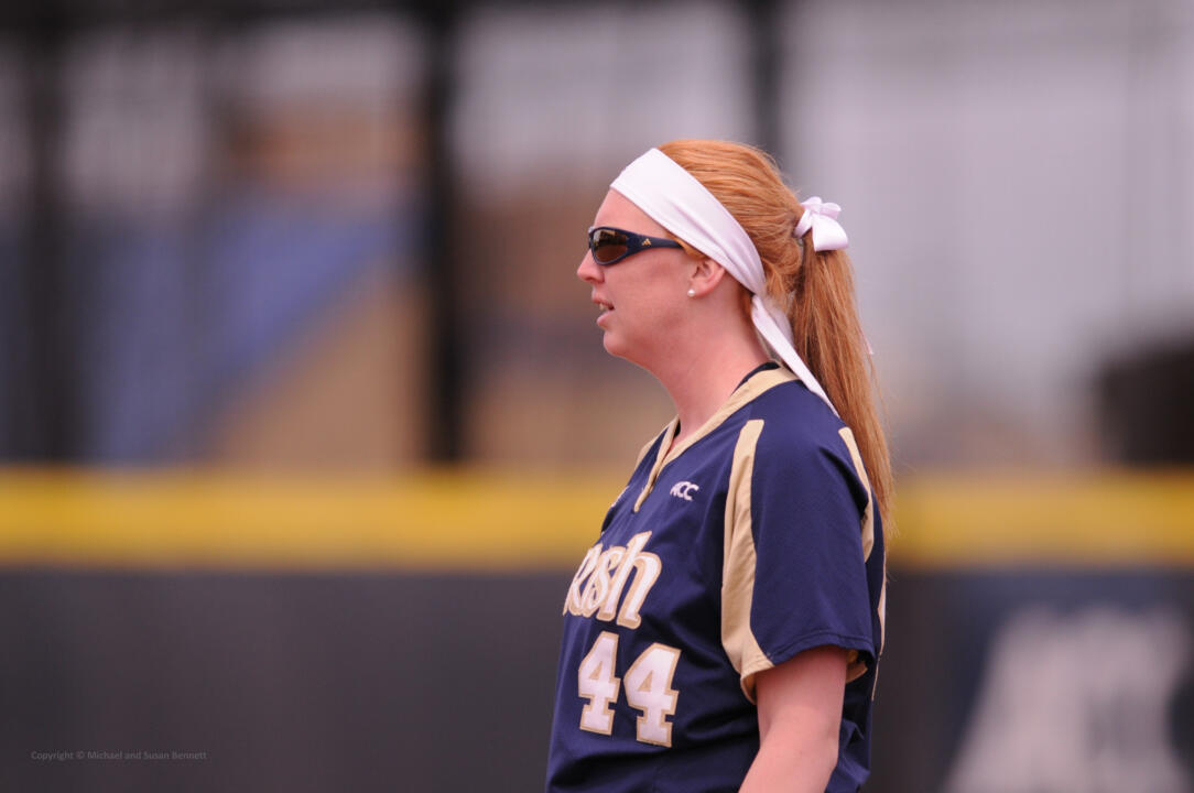 2013 BIG EAST Conference Player of the Year Laura Winter ('14) returns to Melissa Cook Stadium as a member of the Akron Racers for the first NPF game at Notre Dame on Aug. 10
