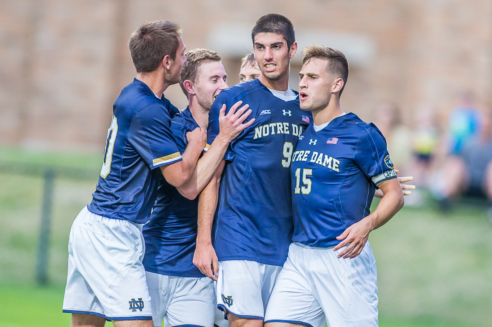 Tri-captain Evan Panken scored the first Notre Dame goal of 2016 in a 4-0 win over UC Irvine on Friday
