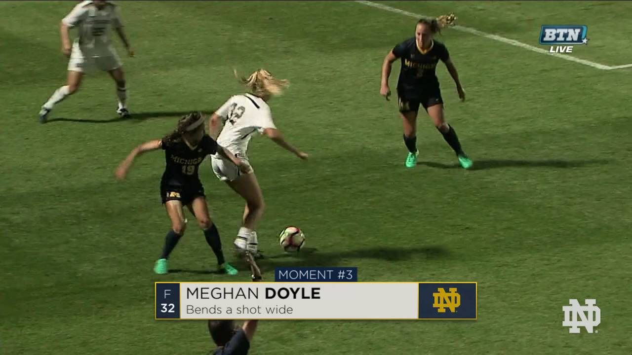 Top Moments: Notre Dame Women's Soccer vs. Michigan