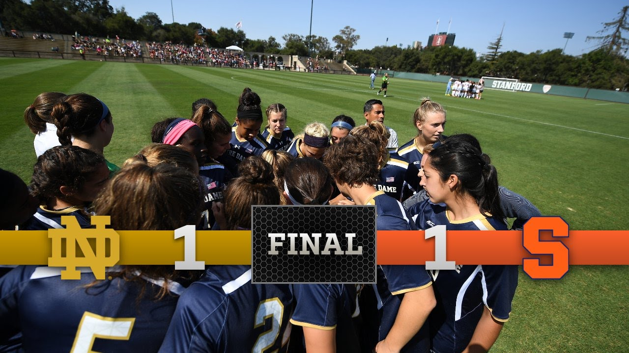 Top Moments - Notre Dame Women's Soccer vs. Syracuse