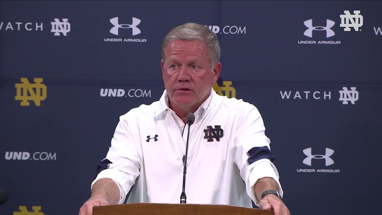 Notre Dame Football Press Conference Nevada