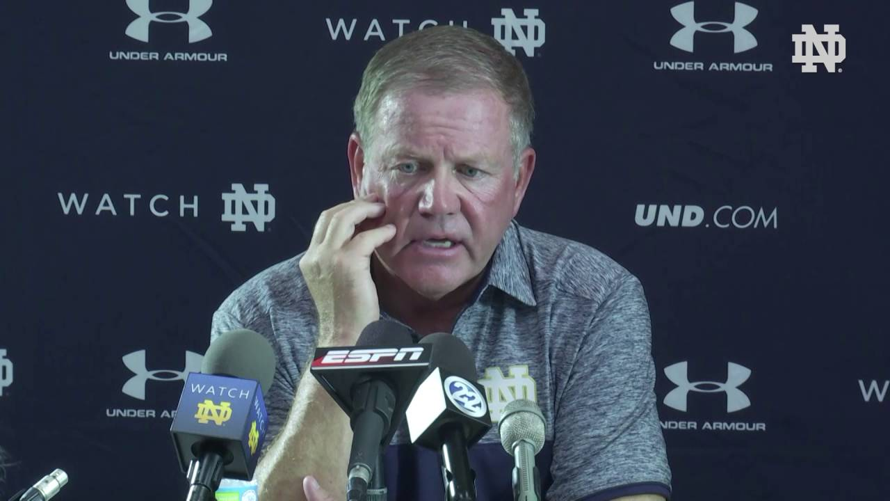 Notre Dame Football Texas Press Conference