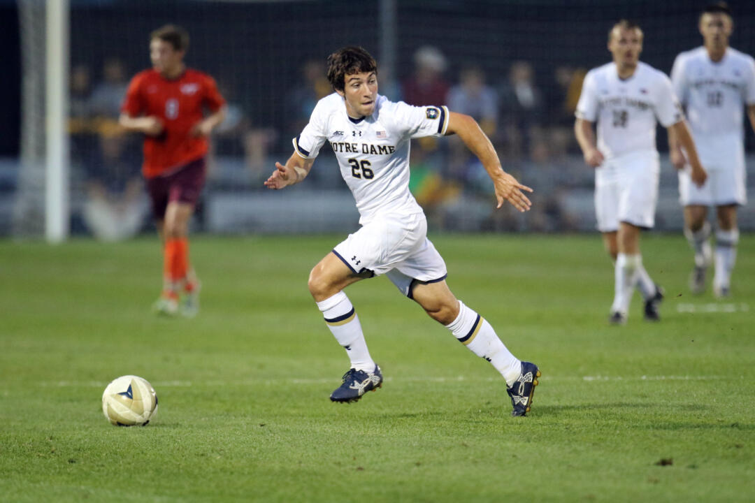 Mark Gormley scored his fourth goal of the season during Notre Dame's match on Tuesday against Northwestern