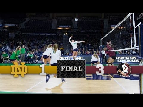 Top Moments - Notre Dame Volleyball vs. Florida State