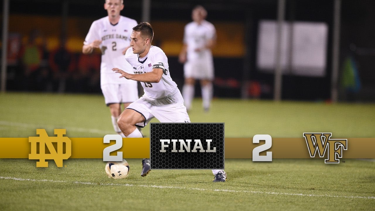 Top Moments Notre Dame Men's Soccer vs Wake Forest