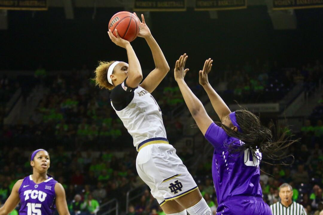 Brianna Turner's next point will be the 1,000th of her Notre Dame career.