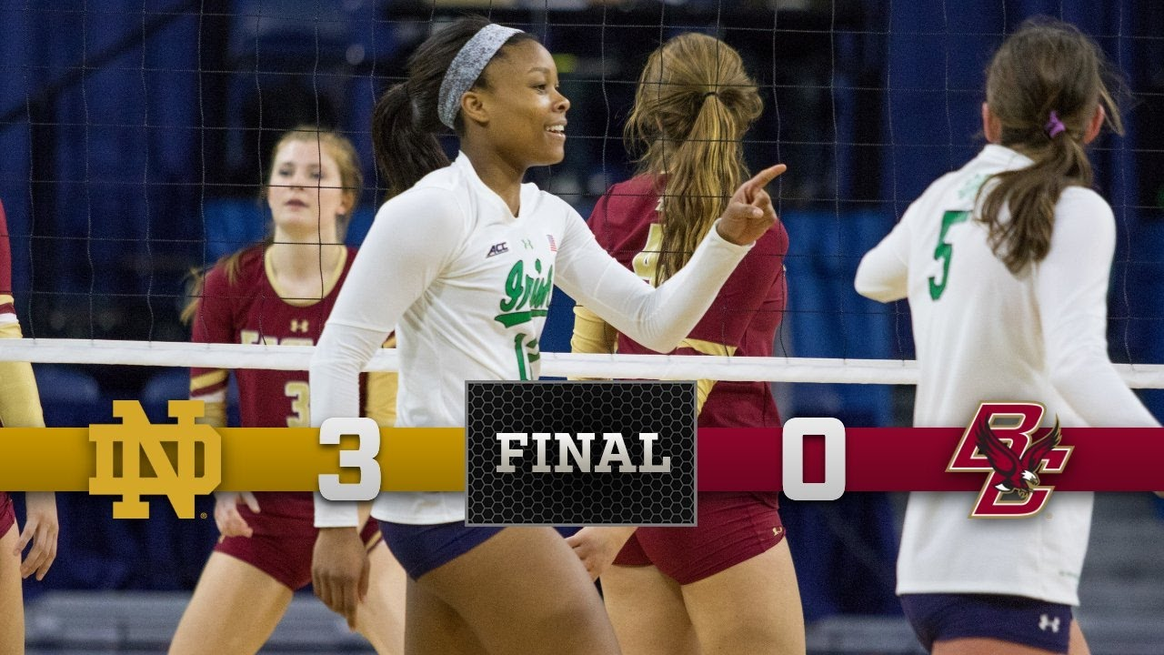 Top Moments - Notre Dame Volleyball vs. Boston College