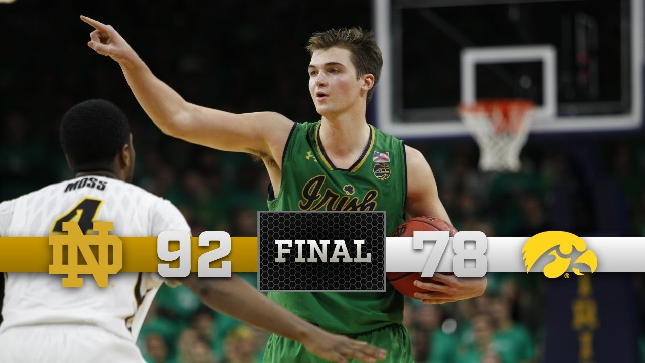 Notre Dame Men's Basketball Highlights vs. Iowa