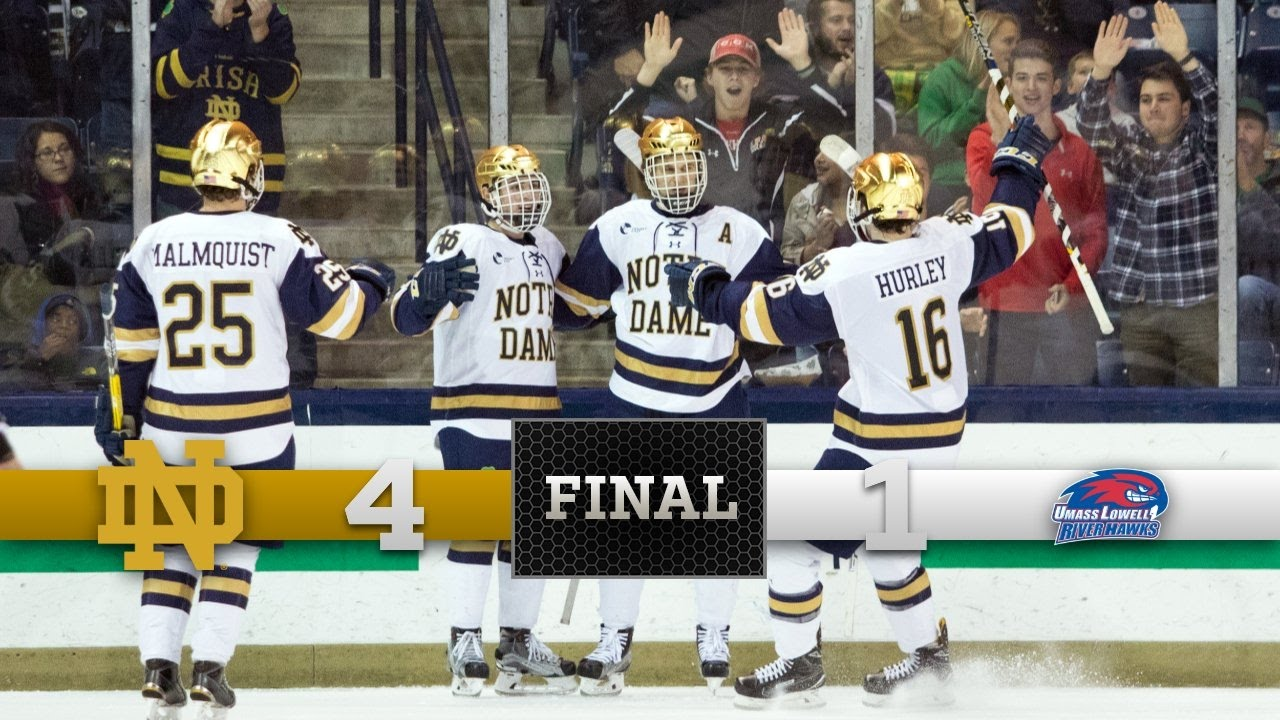 Notre Dame Hockey Highlights vs. UMass Lowell