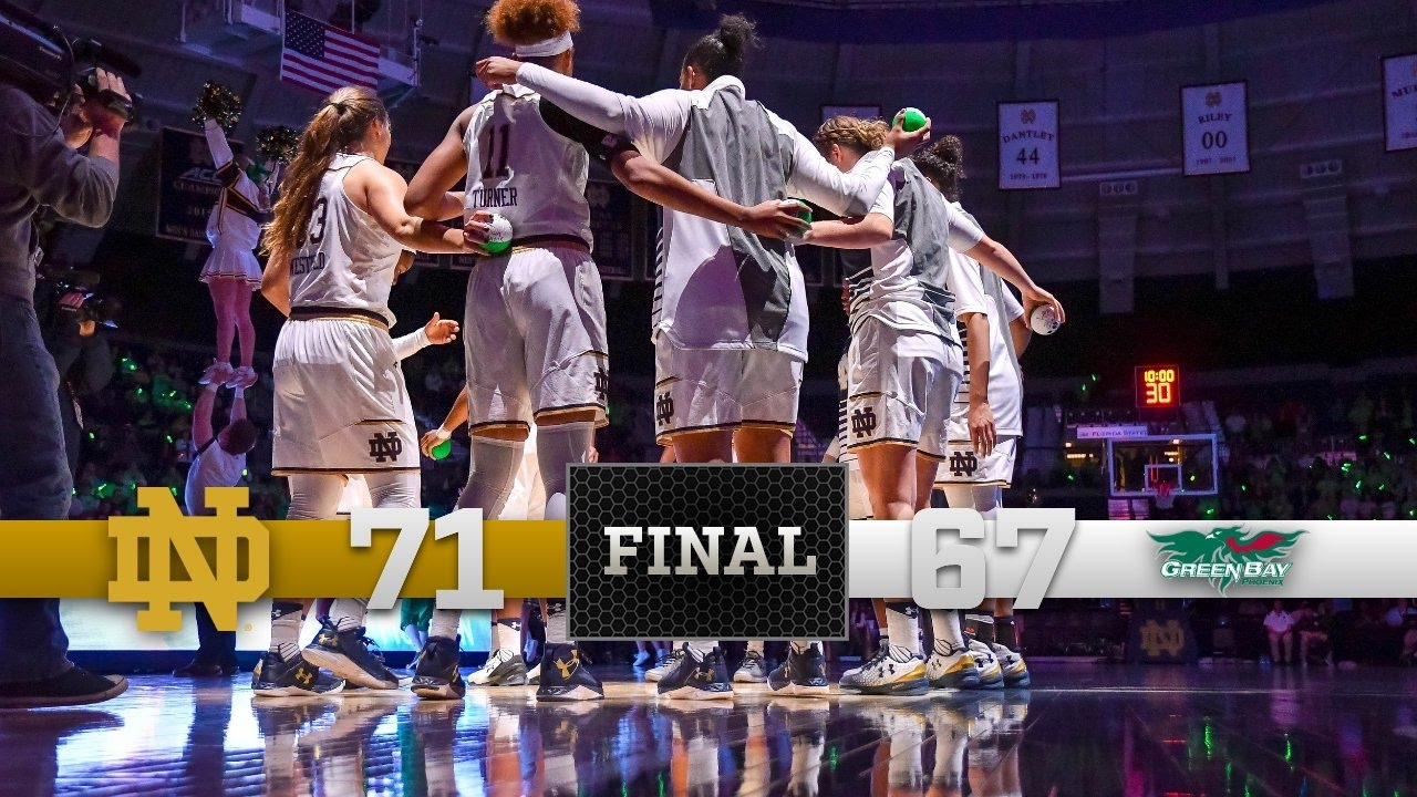 Top Moments - Notre Dame Women's Basketball vs. Green Bay