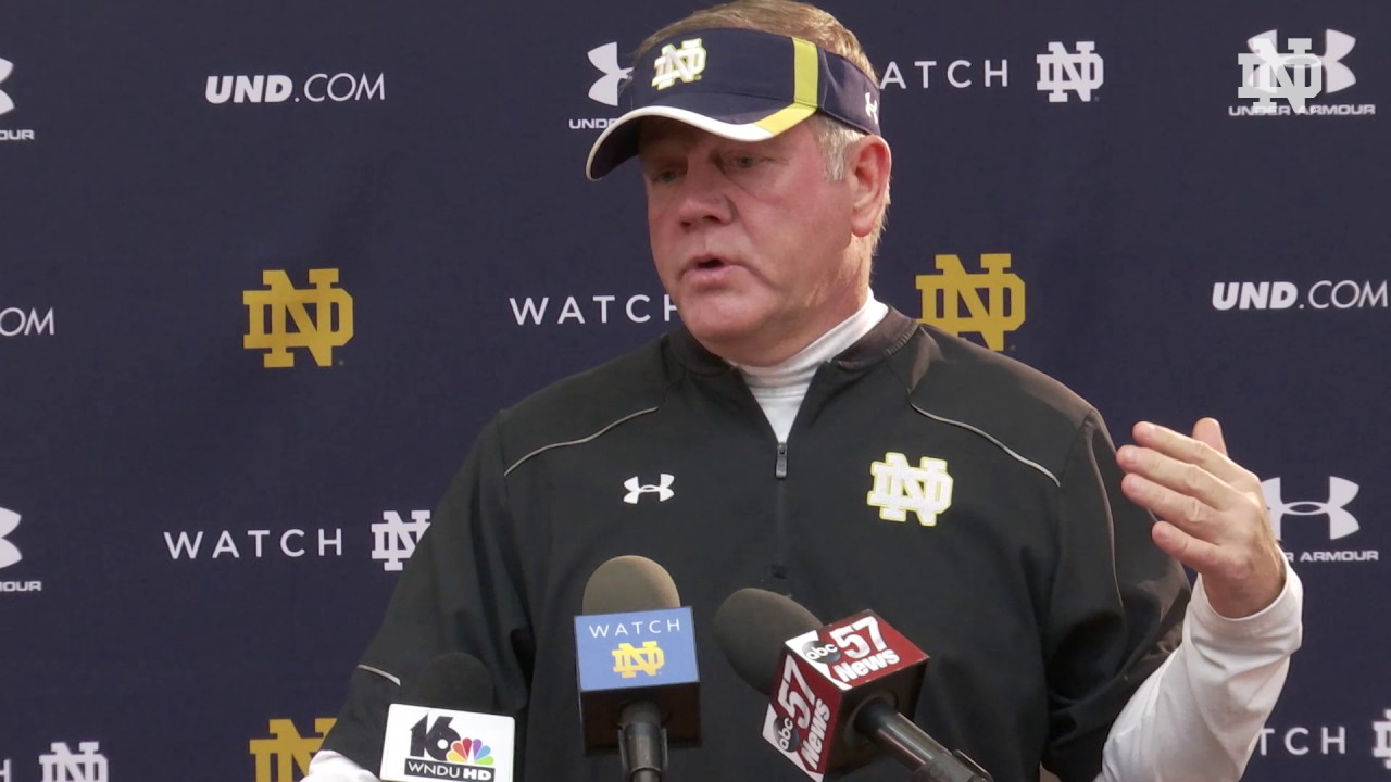 Brian Kelly Post Practice Comments- Virginia Tech Week