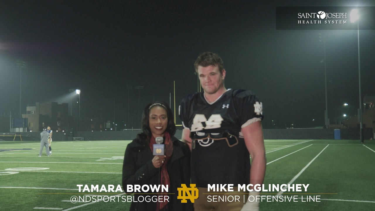 On the Field with Mike McGlinchey - Virginia Tech Week