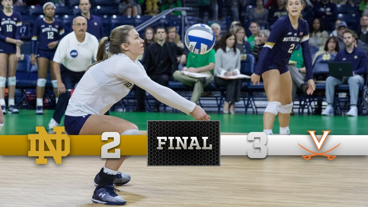Top Moments - Notre Dame Volleyball vs. Virginia