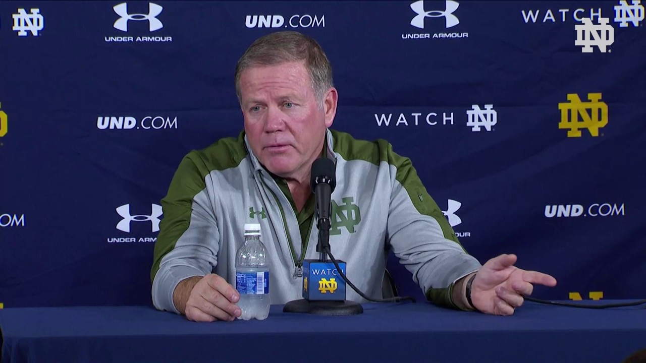 Brian Kelly Post-Game Press Conference - Army