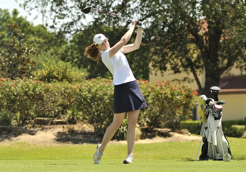Huffer tees off at the 2012 BIG EAST Championship