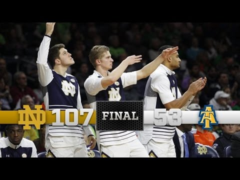 Notre Dame Men's Basketball Highlights vs. North Carolina A&T