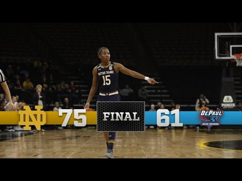 Notre Dame Women's Basketball Highlights vs. DePaul